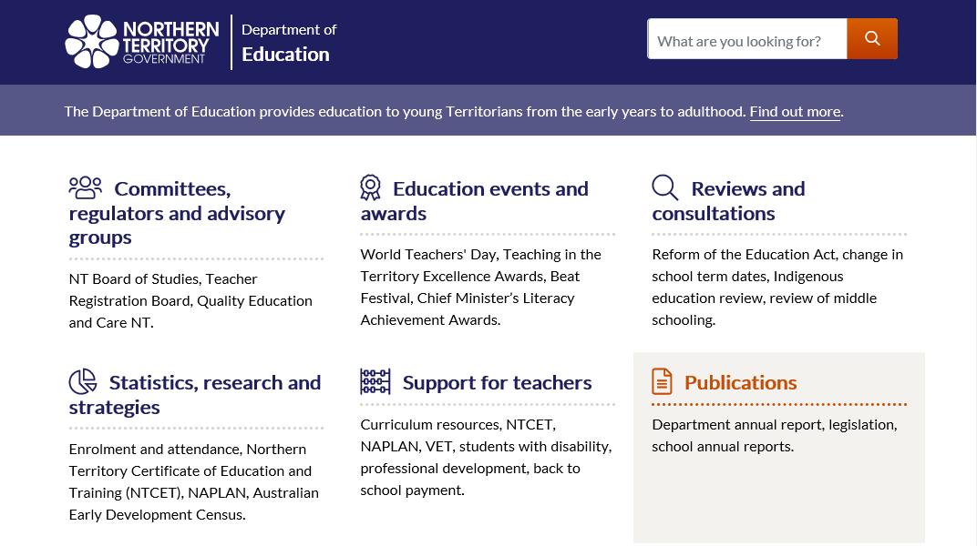 NT Schools Operating Environment